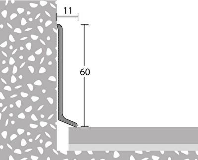 372 Endst/ück rechts silber f/ür Aluminium Sockelleisten Nr